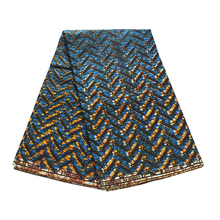 Dress Print-Fabric African Fabric-Guarantee Pure-Cotton Yellow Blue New And for Party