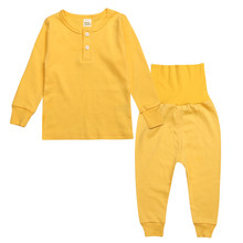 цена на Baby Boy Clothing Set 2Pcs/set Newborn Baby Boy Clothes Fashion Long Sleeve Solid Color T-shirt+High waist Pants Casual Infant