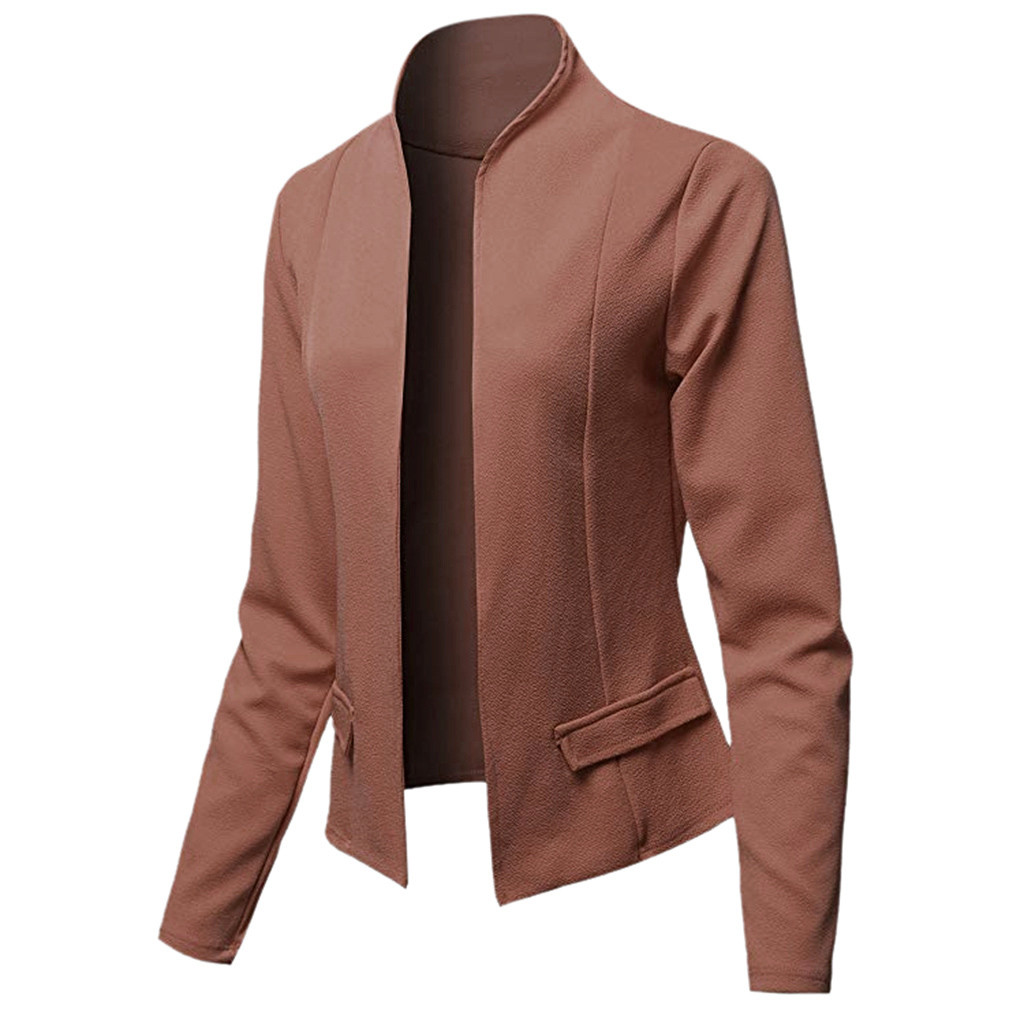 2020 Women Suit Top Coat Retro Jacket Casual Office Lady Wear Coat Autumn Long Sleeve Outwear Women Basic Cardigan Coat Female