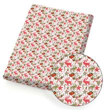 Ткань из полиэстера и хлопка Рождественская ткань с принтом
