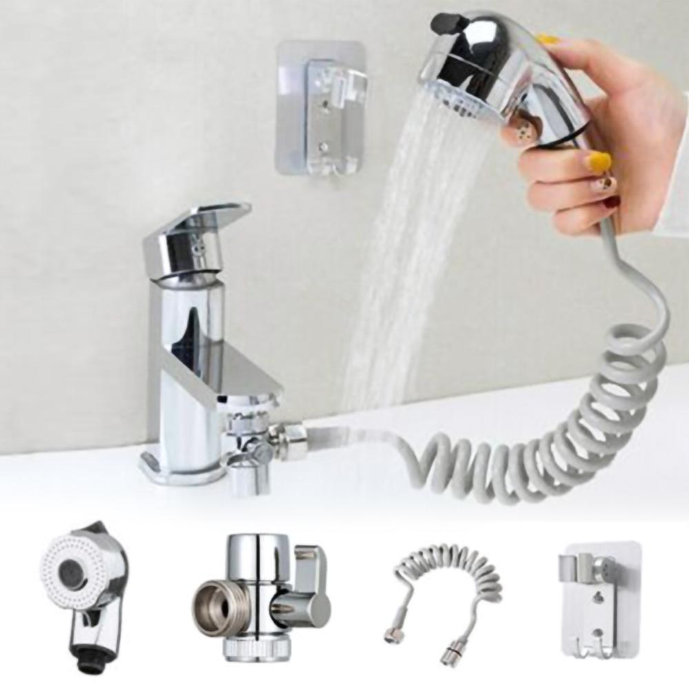 Portable Handheld Splash Shower Tub Sink Faucet Attachment Washing Sprinkler Head Kit Pet Shower Spray Hose