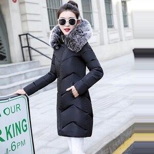 Image 2 - 2019 veste dhiver femmes épais neige porter hiver manteau dame vêtements femmes vestes Parkas