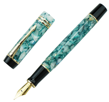 Moonman M600S Gemstone Green Celluloid Fountain Pen MOONMAN Iridium Fine Nib 0.5mm Fashion Office Writing Gift for Business