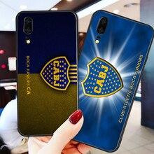Phone Case Tevez For Huawei P8 Case P9 P10 P20 P30 Black Soft TPU DIY Case For Boca Juniors FC Case Honor 9 V10 Y5 Y6 Y9 Y7 Y9