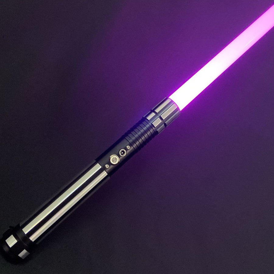 TXQsaber 2020 RGB Lightsaber 1 Inch 82cm Dueling Blade Force FX Light Saber With Sound And LED Light, Metal Handle FOC Toy