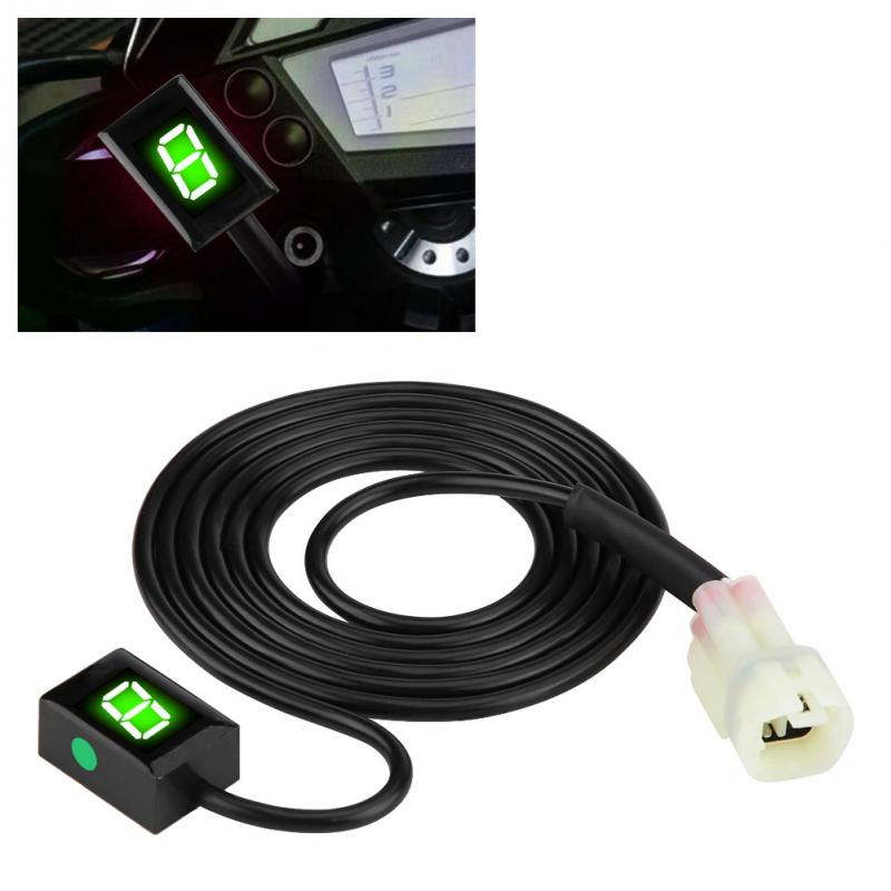 Мотоцикл ECU Plug Mount 6 Скорость цифровой шестерни индикатор рычаг переключения дисплей датчики для Kawasaki зеленый светодиодный