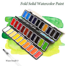 Multicol Solid Watercolor Paint Set For Art Supplies Tinta Aquarela Profesionale Waterverf Paint Caja Acuarela colori Acquerello(China)