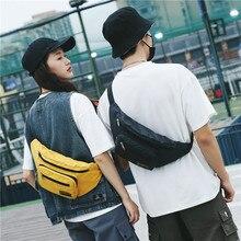 Женская поясная сумка пояса сумки досуг поясная сумка женщина большой емкости пакет банан пару груди мешок мужчины холст материал хип-хоп