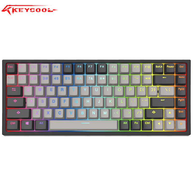 RGB Hotswap Keycool 84 keyboard mekanik permainan keyboard dengan gateron switch lampu latar mini compact keycool84
