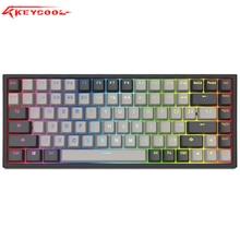 Rgb hotswap keycool 84 teclado mecânico jogo teclados com gateron interruptor backlighting mini compacto keycool84