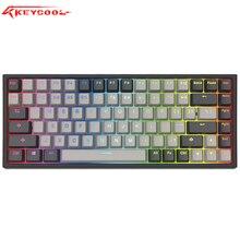 Teclado mecánico RGB Hotswap Keycool 84, teclados para juegos con interruptor gateron, iluminación de fondo, mini compacto keycool84