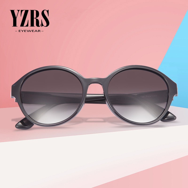 YZRS Brand New Polarized Sunglasses Women Shades Round Sun Glasses Retro Designer Eyewear For Driving