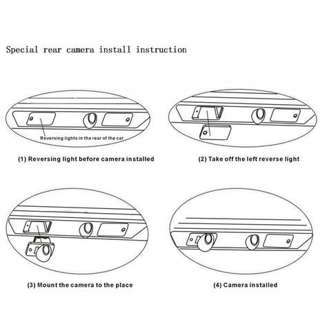 carro invertendo camera de visao traseira para mazda cx5 cx 5 cx 7 cx7 m6