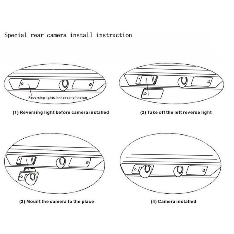 Carro invertendo câmera de visão traseira para mazda cx5 Cx-5 Cx-7 cx7 m6