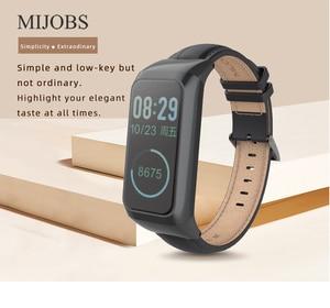 Image 5 - Milanese Strap for Amazfit Cor 2 pulseira Smart Band Leather Wrist Strap Bracelet for Xiaomi Huami Amazfit Cor 2 Wriststrap