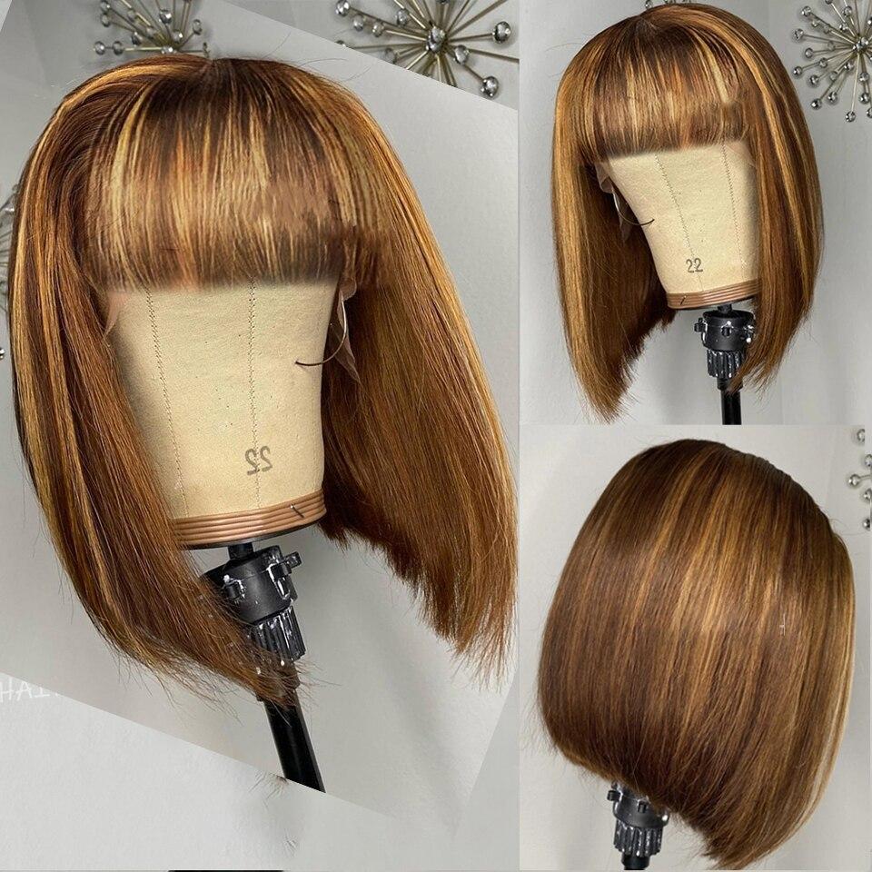 mel cor loira peruca de cabelo humano