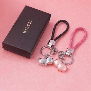 Image 5 - Milesi 3D kuss schwein paar keychain für Liebhaber Geschenk Schmuckstück schöne schlüssel halter frauen präsentieren Chaveiro sleutelhanger auto schlüsselring
