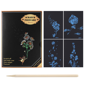 DIY Flowers Scratch Art Doodle Scraping Painting Educational Drawing Toys Early Educational Learning Creative Drawing Toys(China)