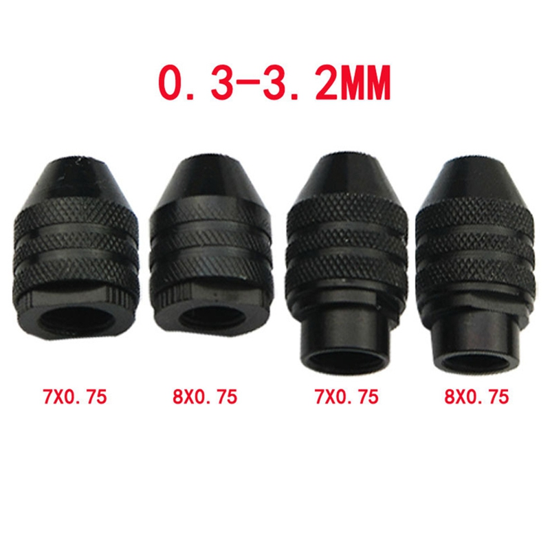 4 Types Multi Chuck Keyless For Dremel Rotary Tools Keyless Drill Bit Chucks Adapter Converter Universal Mini Chuck