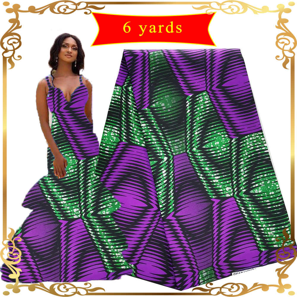 African Lilin Kain 6 Meter Ankara Fabric Bahasa Perancis Biru Nigeria Bordir Lilin Kain Mesh Afrika Pernikahan Bahan Renda