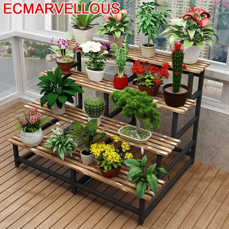 Madera Ladder Indoor Macetas Estante Repisa Para Estanteria Plantas Stojak Na Kwiaty Dekoration Balcony Flower Shelf Plant Stand