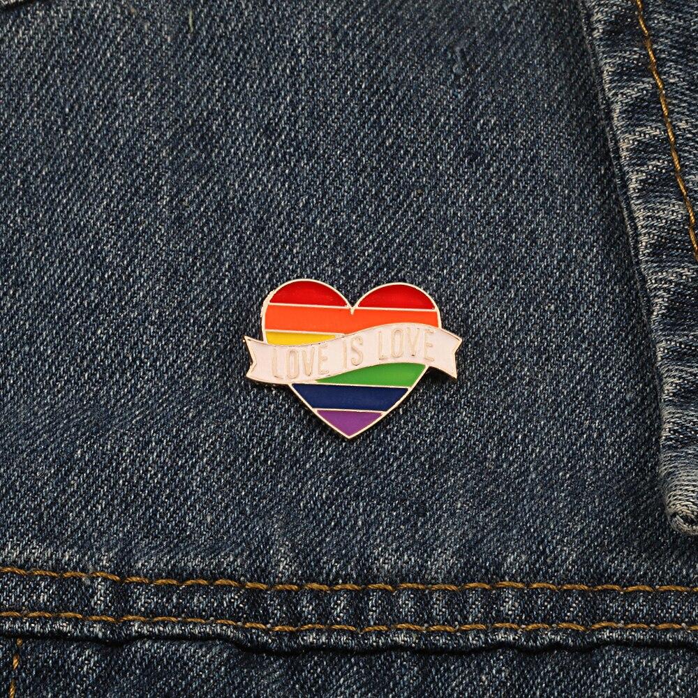 Rainbow Color Brooch Pins 4