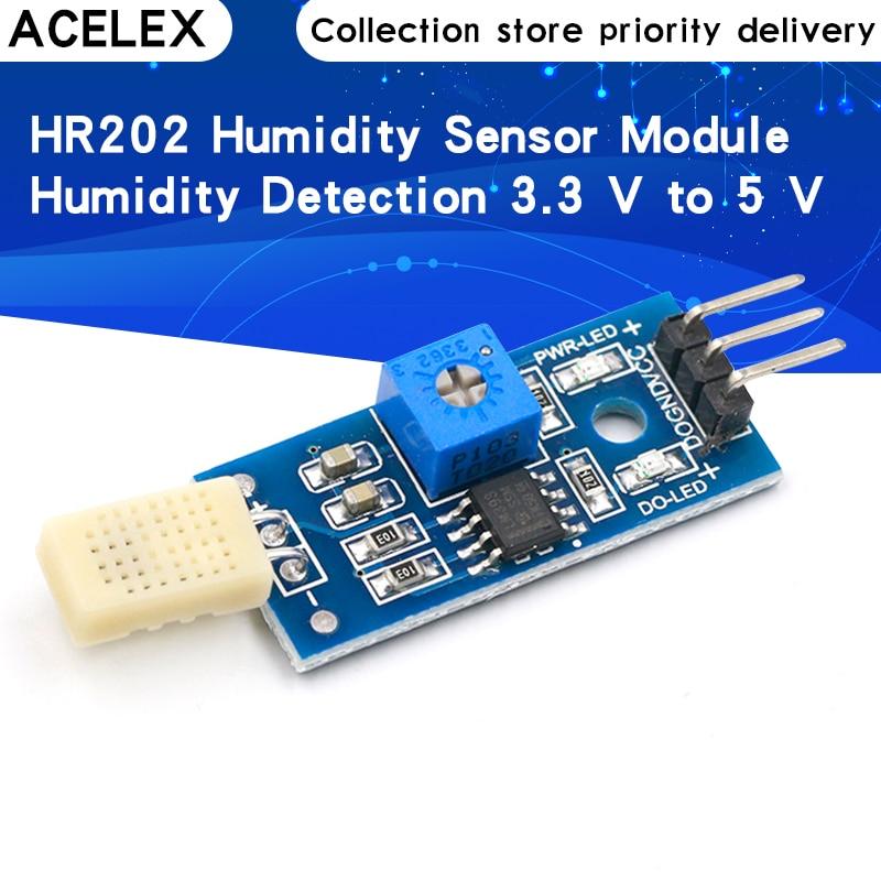 Módulo de teste da umidade do módulo do sensor da umidade hr202 detecção de umidade 3.3 v a 5 v