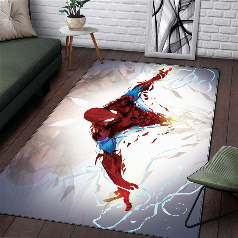 Spiderman Rug Kitchen Room& Bathroom Home Anime Square Carpet Living Room Carpet Christmas Gift Fashion RUG 91x152cm Carpet Mat
