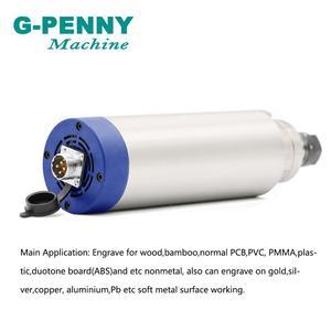 Image 3 - Nowy produkt! 220V 2.2KW ER20 CNC chłodzony powietrzem silnik wrzecionowy 80mm DIY chłodzenie powietrzem 4 łożyska silnik CNC wrzeciona CNC ploter