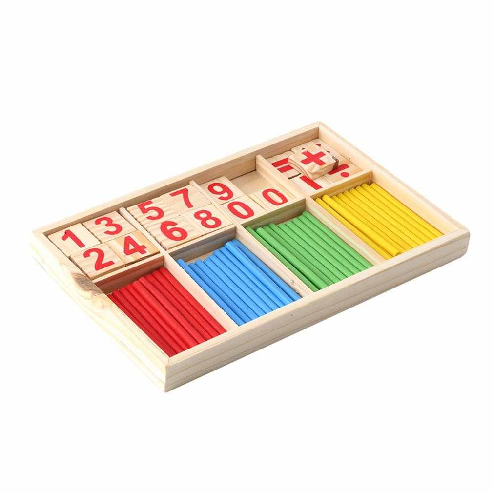 Hot 10sets Intelligence Great Toys Montessori Math Wooden Material ...