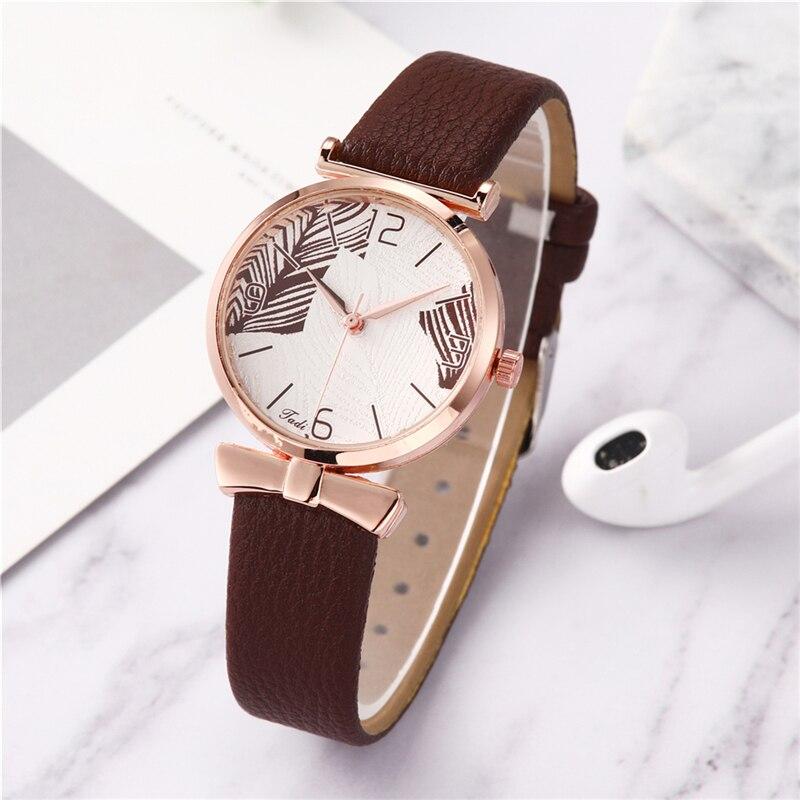 Elegant Quartz Ladies Wristwatches Leather Belt Watches For Women Stylish Montre De Couple Simple Women's Analog Clocks Female