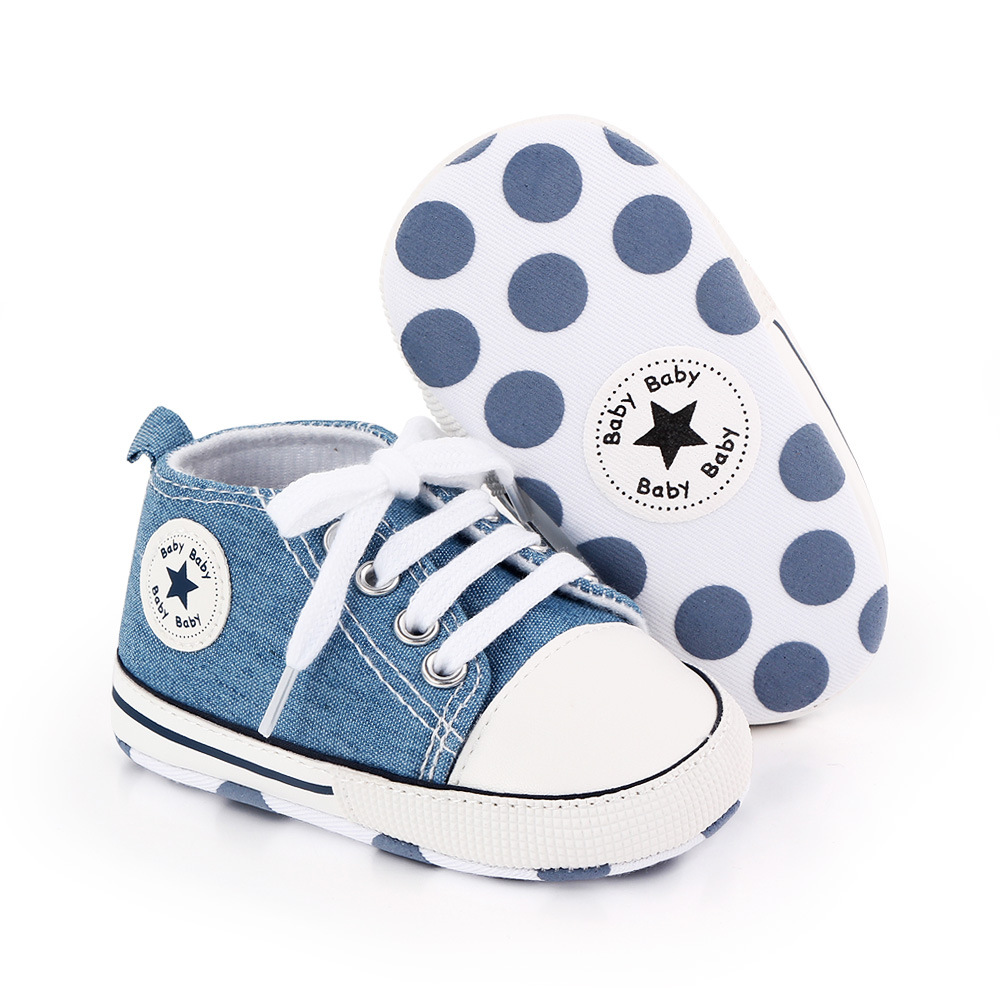 Baby Canvas Classic Sneakers Newborn Print Star Sports Baby Boys Girls First Walkers Shoes Infant Toddler Anti-slip Baby Shoes 3