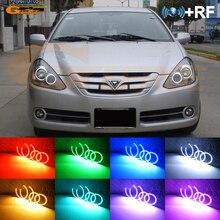 Dla Toyota Caldina T24 facelift 2005 2006 2007 doskonała RF zdalny Bluetooth aplikacji wielu kolorów Ultra jasny RGB zestaw LED oczy anioła