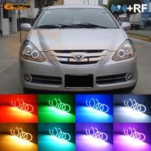 لتويوتا كالدينا T24 تجميل 2005 2006 2007 ممتاز RF تطبيق بلوتوث عن بعد متعدد الألوان مشرق جدا RGB LED مجموعة عيون الملاك