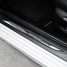 Door Sill Scuff Plate Guards Carbon Fiber Door Sills Protector Sticker For BMW E90 E60 F10 E70 E71 X5 X6 Car Styling Accessories молдинги loyal guards 14 x5