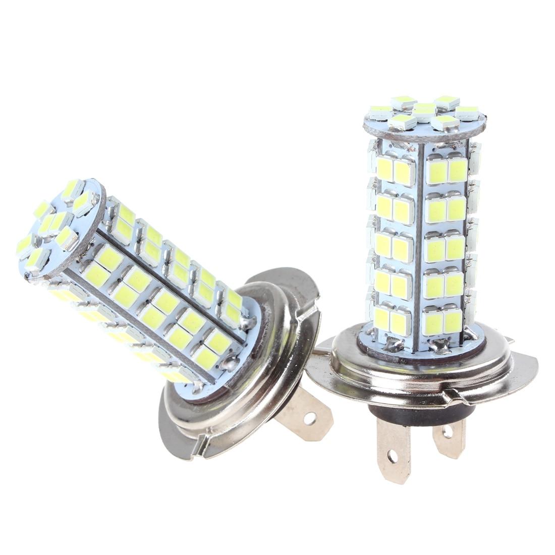 2pcs H7 LED Car Fog Light With 68 SMD LED Xenon Auto Fog Lamp White Bulbs