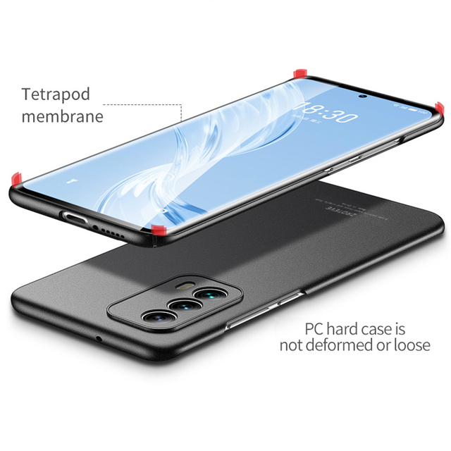 Meizu 18 Case ZROTEVE Frosted PC Coque For Meizu 18 Pro Case Slim Hard PC Back Cover For Meizu 17 18 Pro Shockproof Phone Case 6