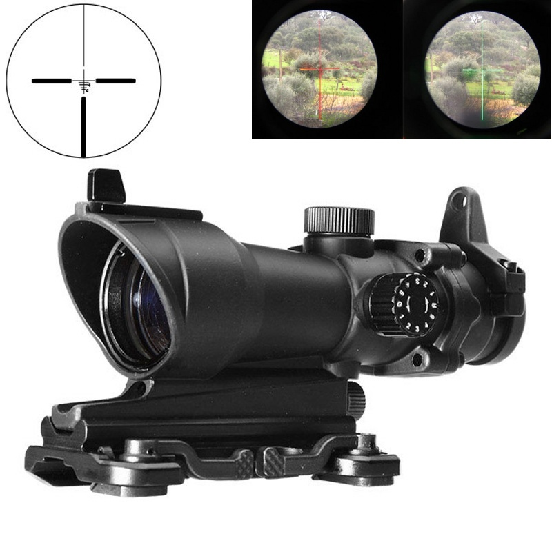 AIM Hunting Scopes ACOG 4X32 Red Dot Sight Optic Air Gun Rifle Scope Tactical Airsoft Reddot Riflescope AO5319
