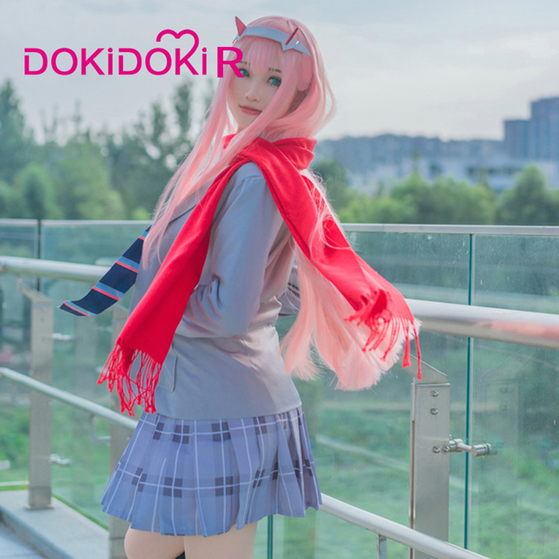 DARLING in the FRANXX Zero Two 02 CODE002 Red and White Skirt Women All Sizes