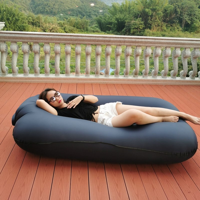 Inflatable Garden Furniture Sofa Bed Outdoor Folding Lazy Air Couch Portable Beach Lounge Outside Camping Sleeping Bags