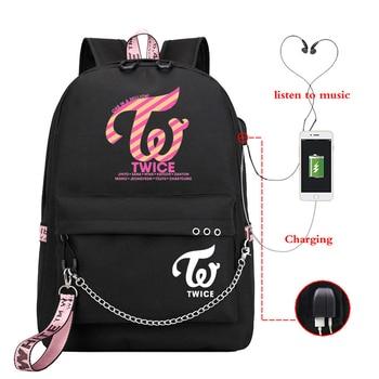 Fashion 2020 New Women Canvas Backpacks Twice Usb Charging School Bags for Teenagers Girls Big Twice Laptop Backpack Mochilas usb charging backpacks women girls backpack school bags for teenagers 2018 new mochila feminina students satchel high quality