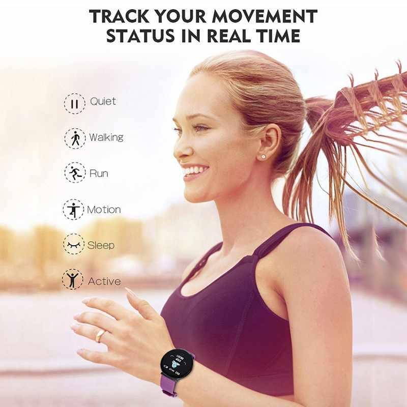 Esporte relógio inteligente homem smartwatch mulher relógio inteligente pressão arterial monitor de freqüência cardíaca à prova dwaterproof água relógio smartwatch para android ios