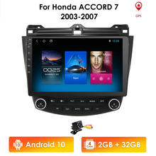 2G 64G Android 10 Car Radio GPS Navigation For Honda ACCORD 7 2003 2004 2005 2006 2007 Multimidia SWC FM CAM-IN USB DAB+ DTV