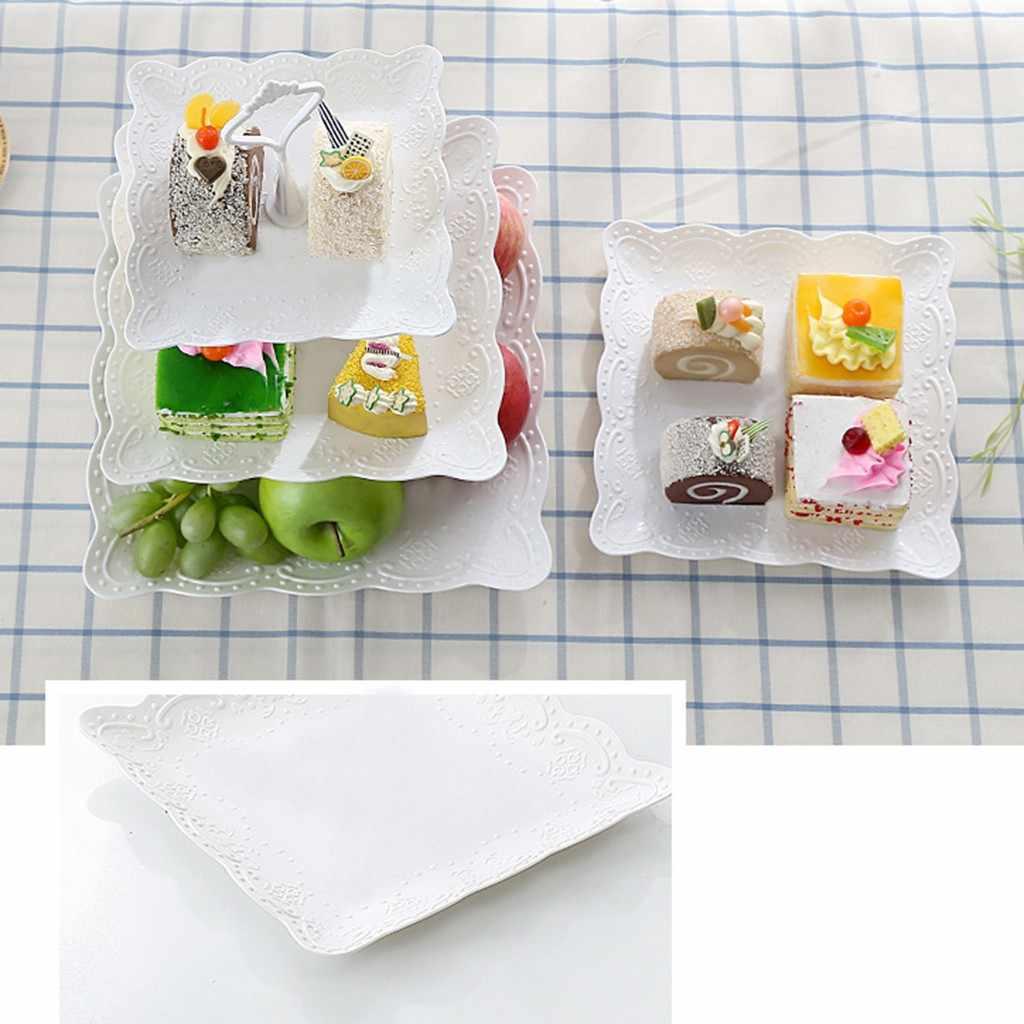 3-Tier Cupcake Stand Kue Dessert Pernikahan Acara Pesta Display Tower Plate New Nov 27