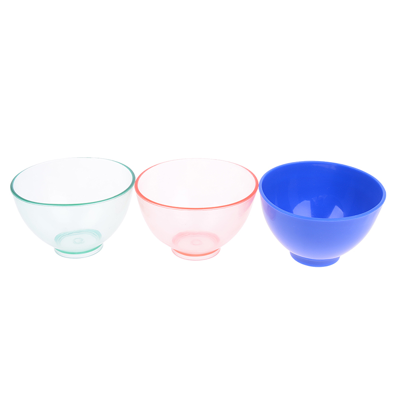 DIY Mask Mixing Bowl Dental Tool Material Plaster Mixing Bowl Transparent Leather Bowl For Plaster Soft Plastic Bowl Rubber Bowl