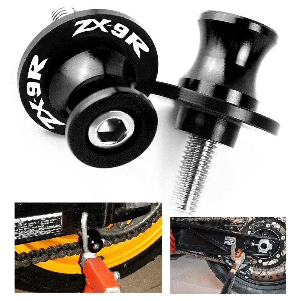 Sliders CNC Spools SwingArm Swing Arm Paddocks Stand Bobbins For Kawasaki ZX9R ZX 9R ZX9 R 1998-2003