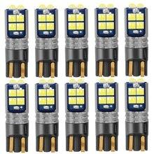 10 Chiếc Mới T10 W5W 168 WY5W Siêu Sáng Bóng Đèn LED Nội Thất Ô Tô Đọc Mái Vòm Đèn Wedge Đậu Xe Đèn Xe Ô Tô hàng Trắng Hổ Phách Đỏ