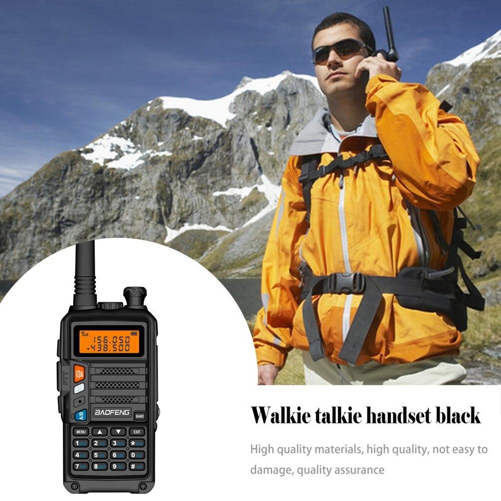 UK Plug High Power 8Watts Portable Walkie Talkie 10km Long Range CB Radio Transceiver For Hunt Forest City Upgrade 5R