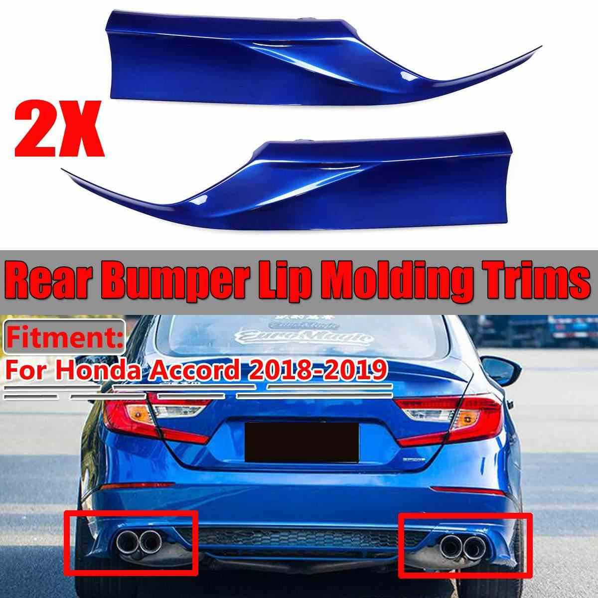 For 2018-2019 Accord Rear Bumper Lip Splitter Spoiler Side Aprons Molding Trims