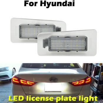 цена на For Hyundai Elantra Sedan 2011-2016 white LED Car Rear license plate light number plate lamp